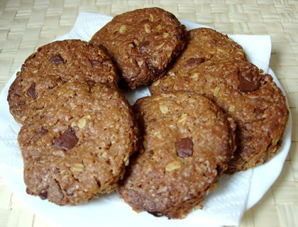 Galletas de chocolate, Avena y Amaranto