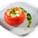 Tomates rellenos de Picles y Soja