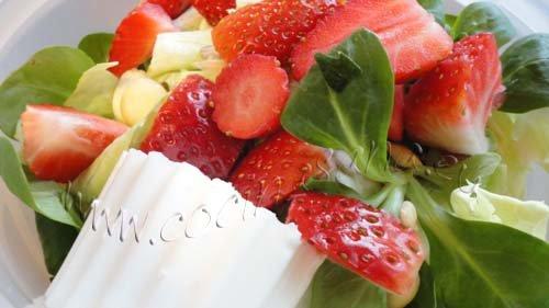 Ensalada de fresas y almendras