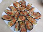 Berenjenas asadas con Tomate y Mozzarella