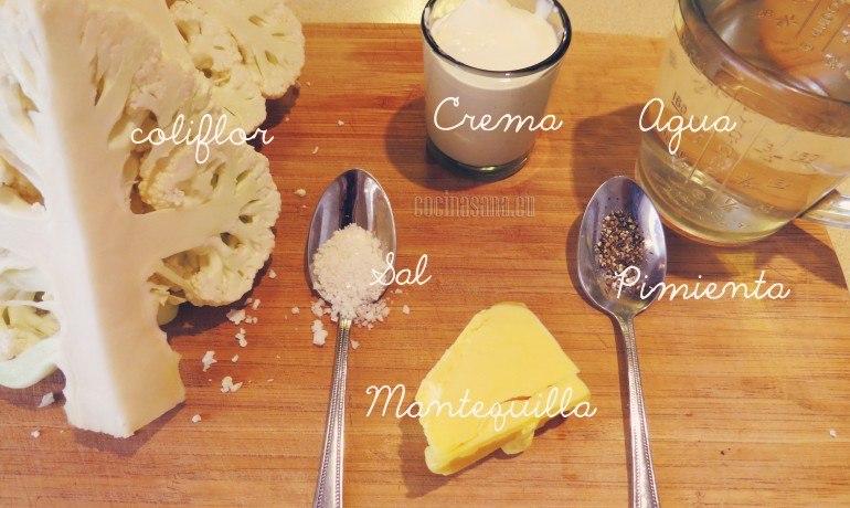Ingredientes necesarios para la receta.