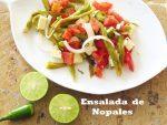 Ensalada de Nopales … fresca, sana y deliciosa