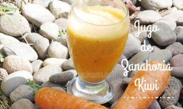 jugo zanahoria y kiwi
