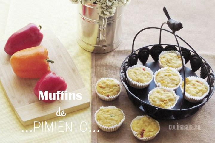 Muffins salados de Pimientos y Queso