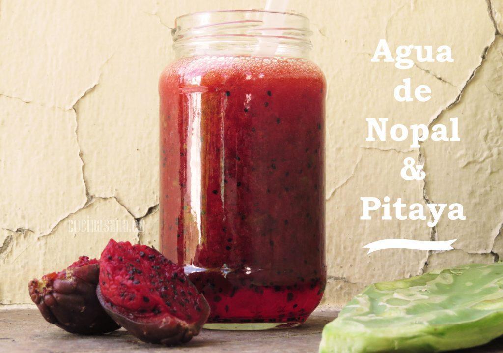 Agua de nopal y pitaya