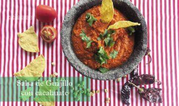 Salsa de Guajillo y Cacahuate