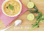 Receta de Sopa casera de Fideos y Tomate