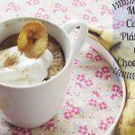 """""""Mug cake"""" de Plátano y Chispas de Chocolate"""