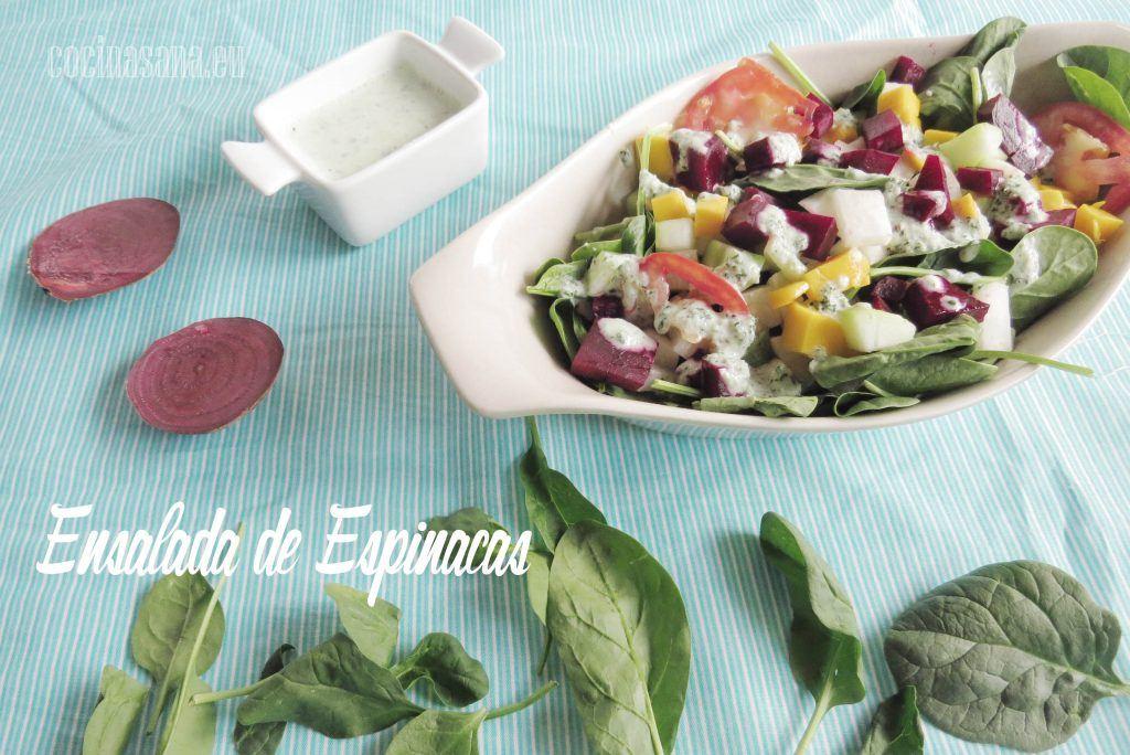 Ensalada de Espinacas, Jícama y Betabel