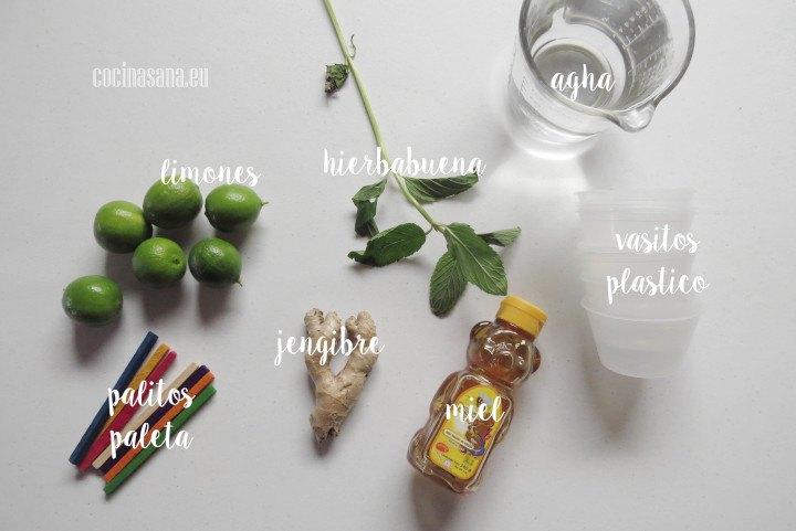Ingredientes para la Paletas de Limón