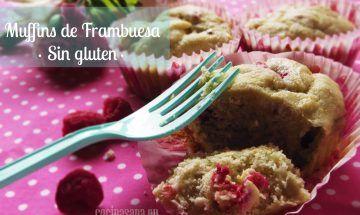 Muffins de Frambuesa sin gluten