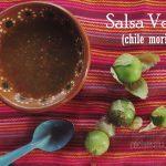 Salsa de Tomate Verde y Chile Morita