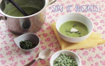 Sopa con chicharos
