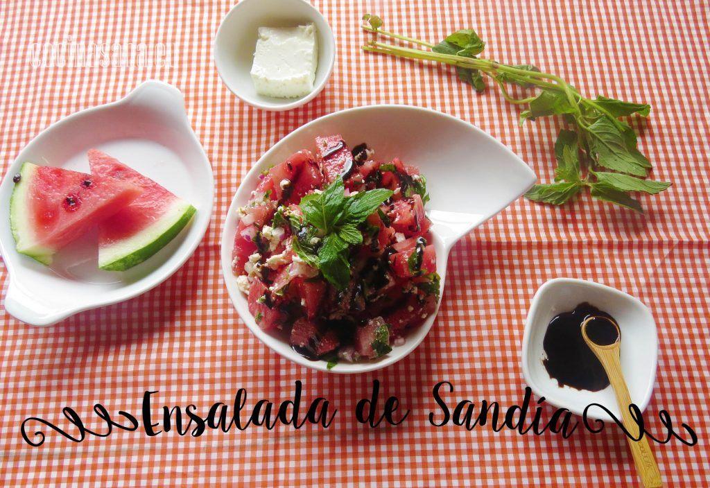 Ensalada Fresca de Sandía con Hierbabuena y Queso Fresco: Receta light de verano