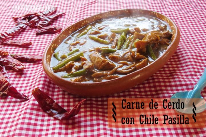 Recetas De Cocina Carne   Carne De Puerco En Chile Pasilla Y Ejotes