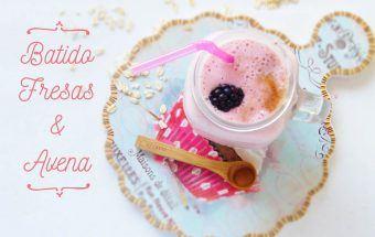 Batido de Avena y Fresas