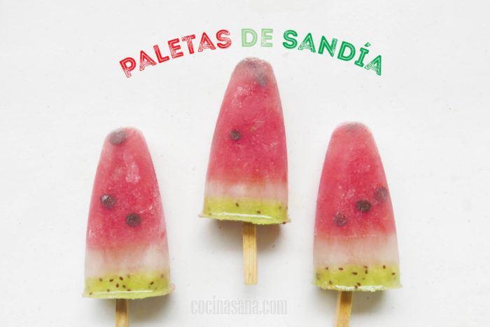 Polos de Sandía. Paletas Heladas de Frutas