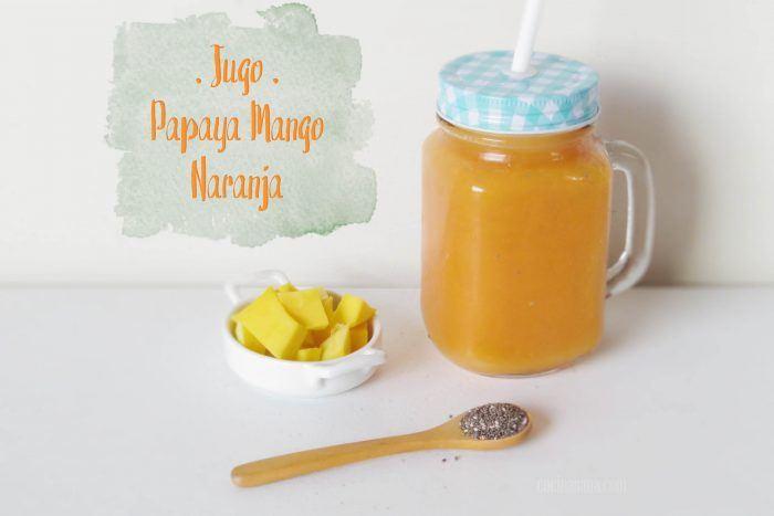 Jugo de Papaya, Naranja y Mango, para Digestión y Defensas