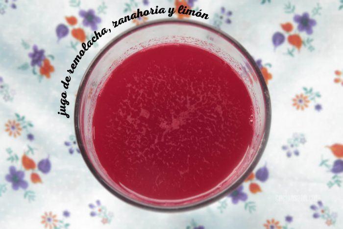 jugo de remolacha, zanahoria y limón
