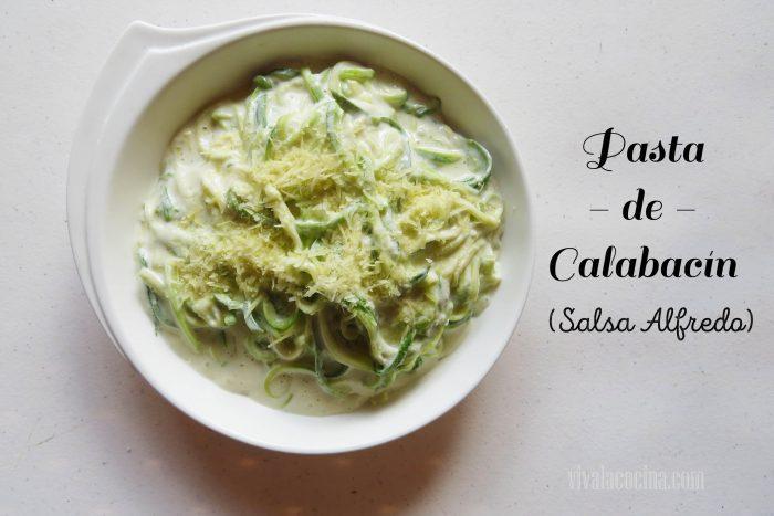pasta verde: pasta de calabacín