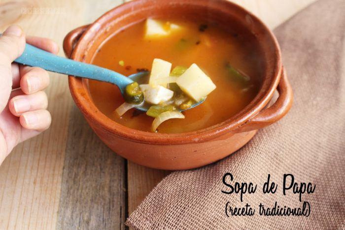 Sopa de Papa o Patatas: Receta Sencilla, rápida y deliciosa