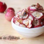 Chips de verduras: Snack de rábano rico, fácil y muy sano